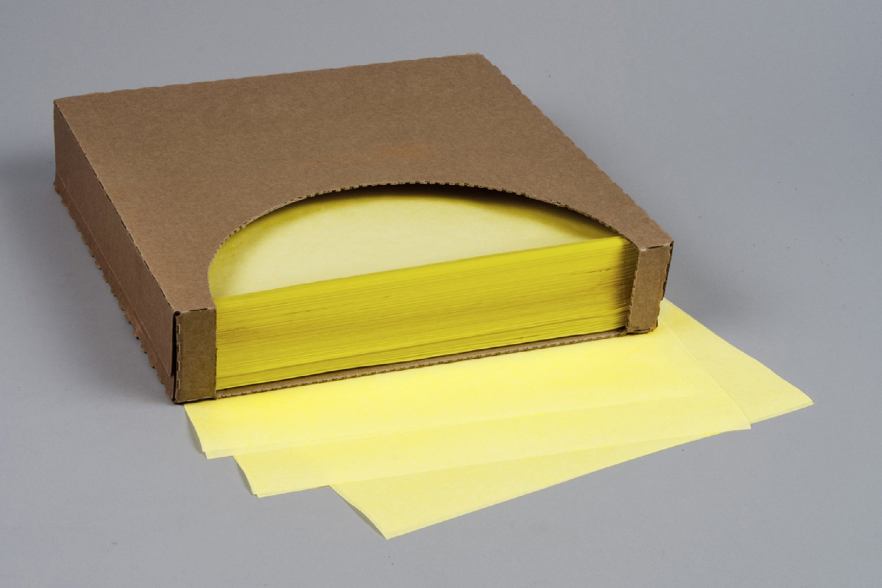 12x12 Waxed Paper Wrap or Basket Liner Sheet, CANARY YELLOW Color, 1000 Sheets Per Box, 7B4-YC