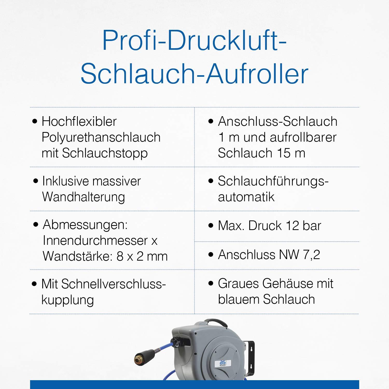 Home & Garden Druckluft-schlauchtrommel 10 M Mit Aufrollautomatik Aufroller Drucklufttrommel Automotive Tools & Supplies