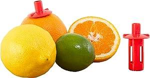 Kitchen + Home Citrus Tap – Portable Lemon Lime Juicer, Orange Citrus Spout and Jalapeño Corer – 3 Pack
