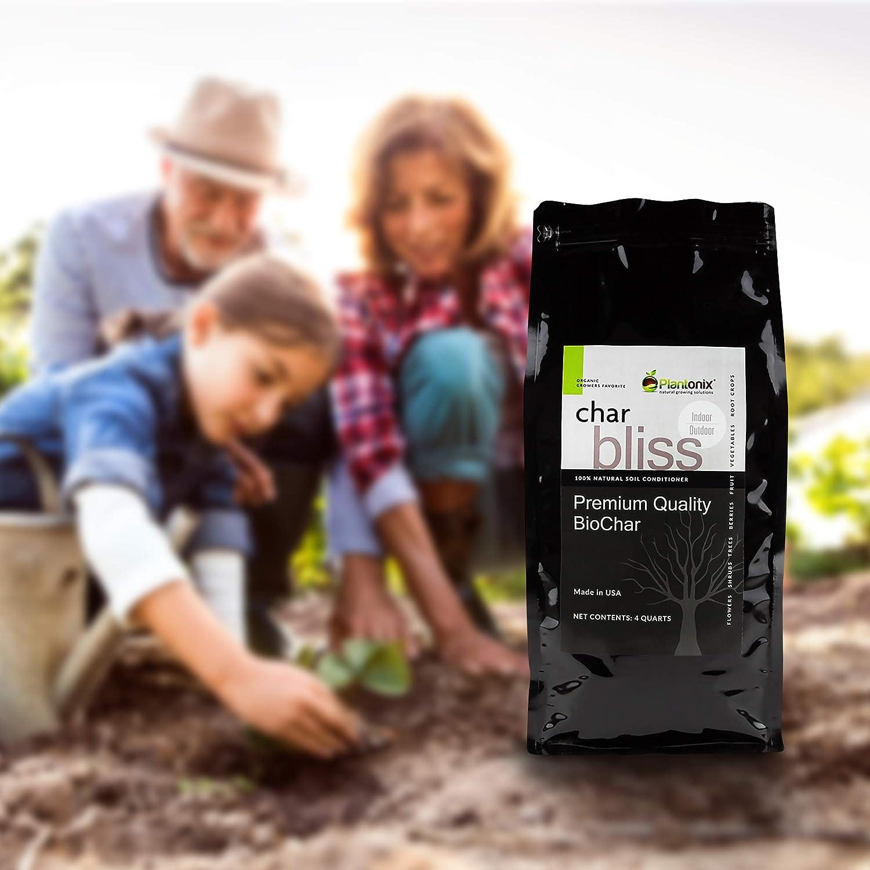 Char Bliss-Premium Wood Biochar- 100% Pure Organic Soil Conditioner (1 Cu  Ft)