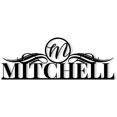 MRC Wood Products Outdoor Metal Personalized Family Name Sign with Monogram : Garden & Outdoor
