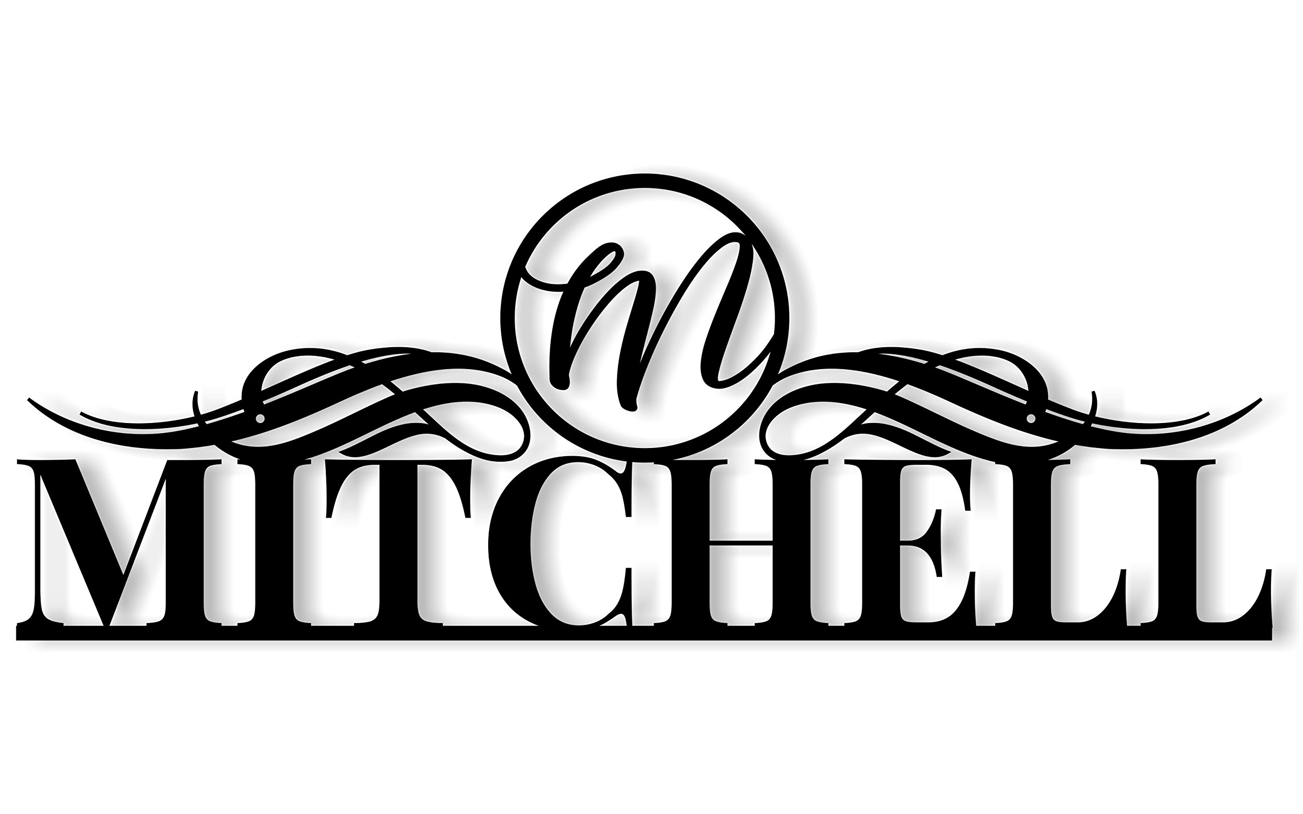 Outdoor Metal Personalized Family Name Sign With Monogram