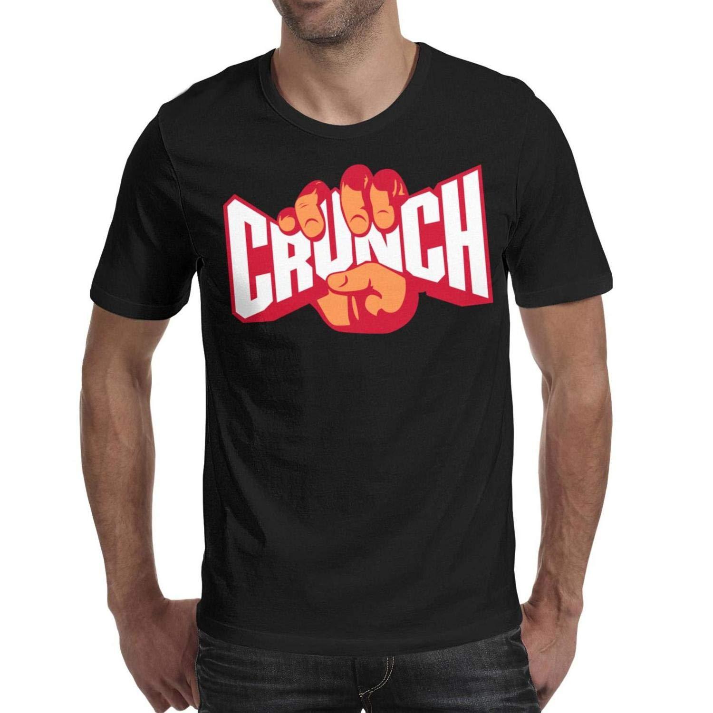 Summer Mens Home Tee-Crunch-Funny-Fitness-Gym-T Shirt O-Neck Plain