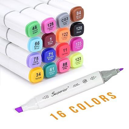 amazon com fabric marker unitystar 16 colors fabric paint pens
