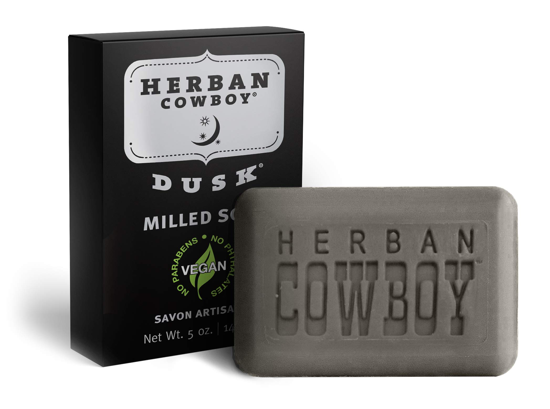 HERBAN COWBOY Milled Bar Soap   Men's Bar Soap   No Parabens, No Phthalates & Certified Vegan … (Dusk)
