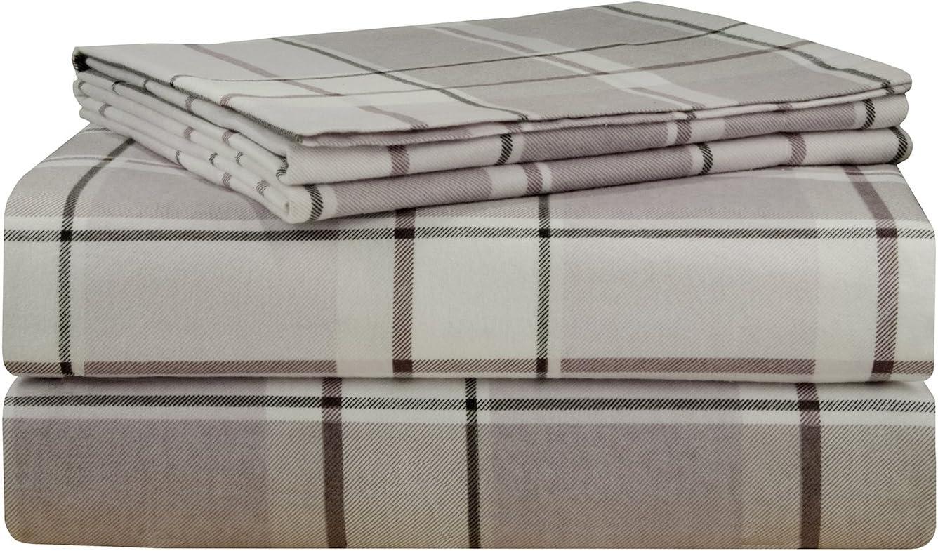 Amazon Com Pointehaven 200 Gsm Flannel Sheet Set Queen Printed Jensen Home Kitchen