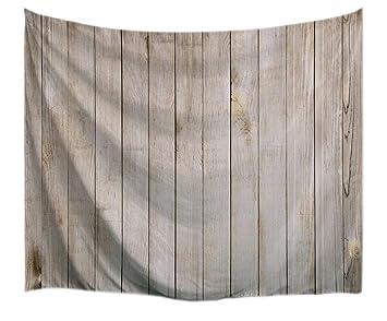 A.Monamour Vendimia Luz Marrón Verticales Tablones Piso Textura De Madera Impresión Tela Textil Pared