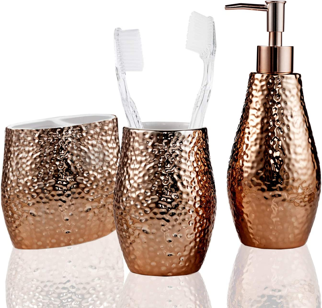 5 pcs New Serene-Life SLBATAC03 Bathroom /& Sink Accessory Set