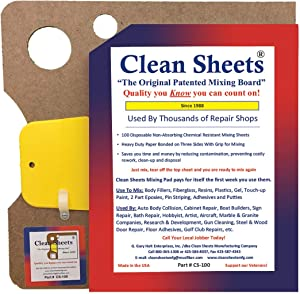 Clean Sheets Superior Mixing Pad (12x12) - 100 Disposable Sheets For Toughest Job