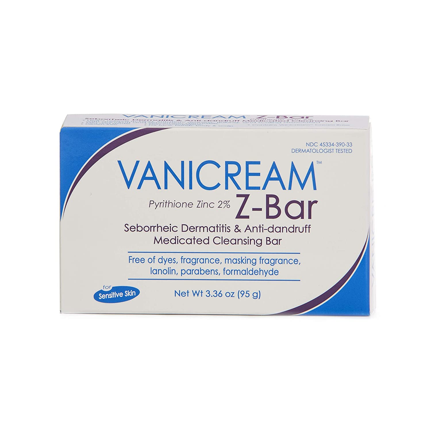 Vanicream Z-Bar | Medicated Cleansing Bar for Sensitive Skin | Maximum OTC Strength Zinc Pyrithione 2% | Helps Relieve Itching, Redness, and Flaking | 3.36 ounce: Beauty