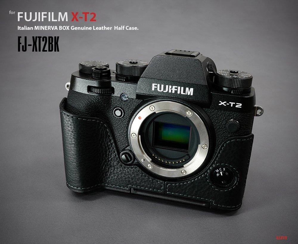 Lims Fuji X T2 Genuine Leather Camera Metal Grip Half Fujifilm Body Black Case Photo