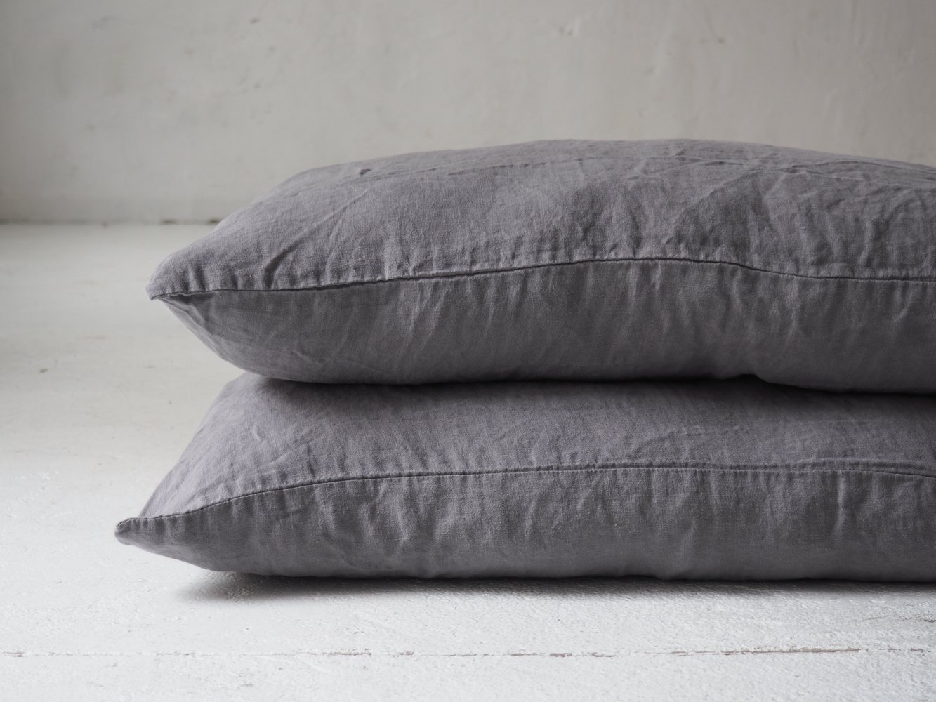 custom sizes Envelope style Linen Pillow Case Steel Grey in standard king queen