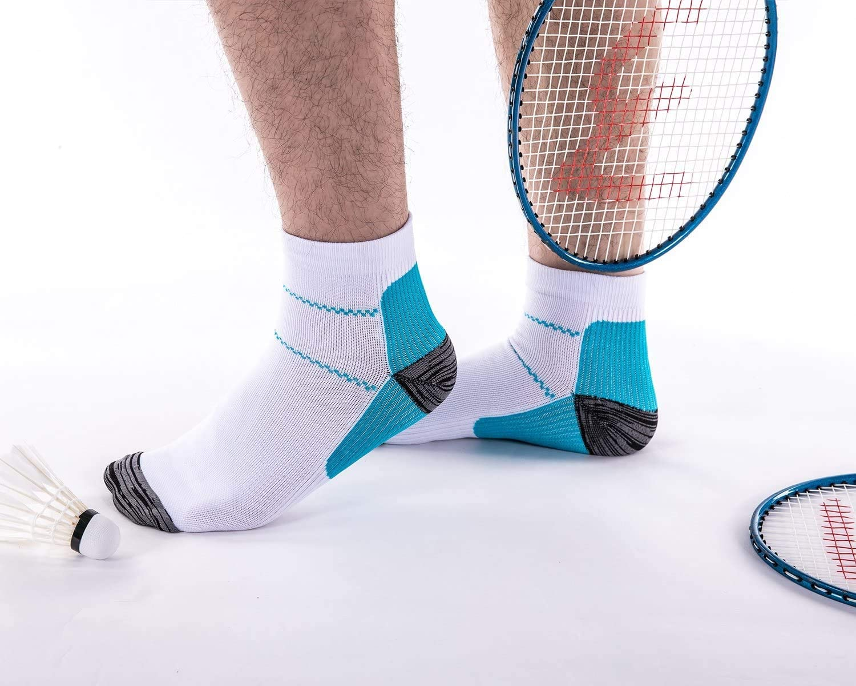 6 paia Fascia per plantare fascite plantare sportiva migliorata Calze per i piedi a compressione bassa tagliata Best for Athletic Sports Calze a compressione per donna e uomo