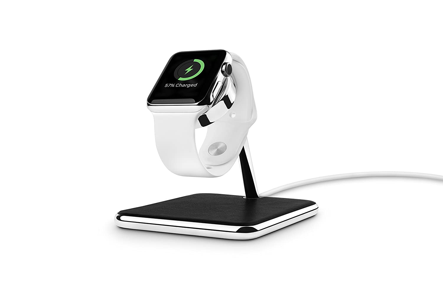 Twelve South Forte for Apple Watch | Chrome and Leather Display and  Charging Stand