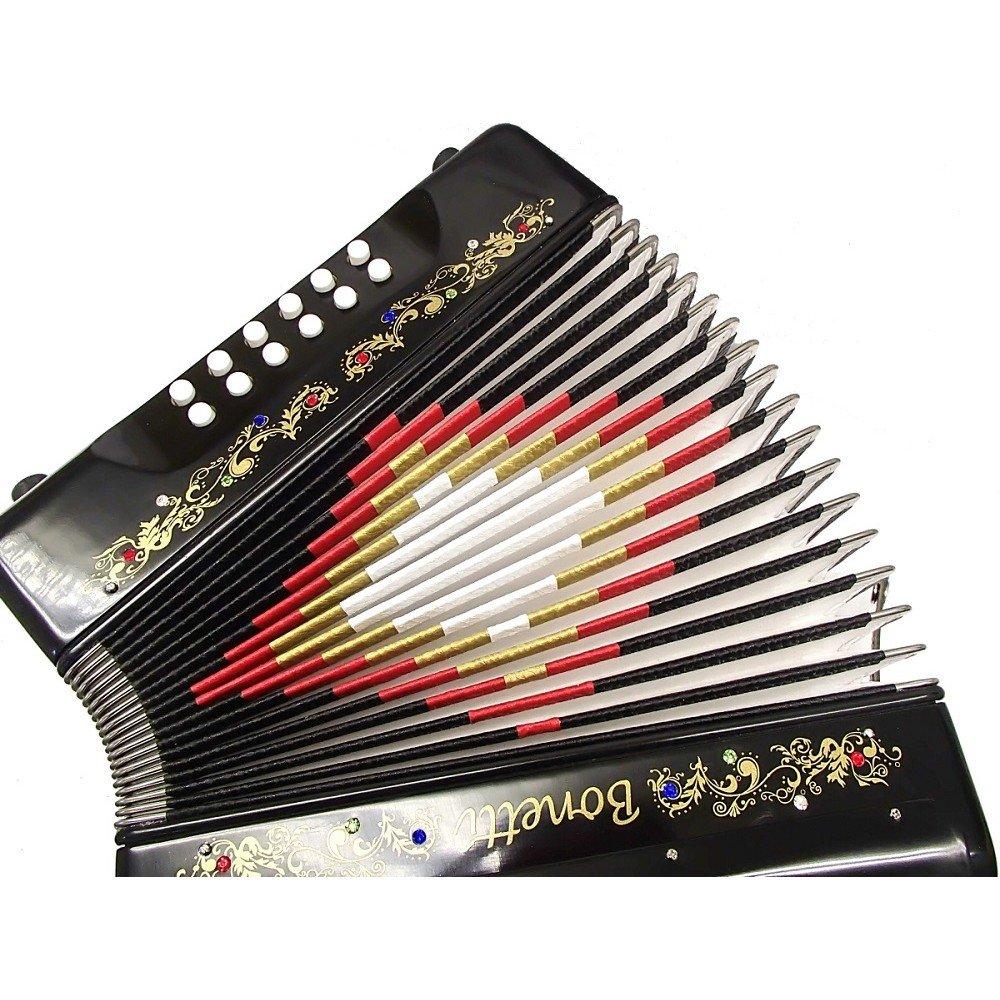 Bonetti Black Diatonic Button Accordion FBE 3012 by Bonetti (Image #4)