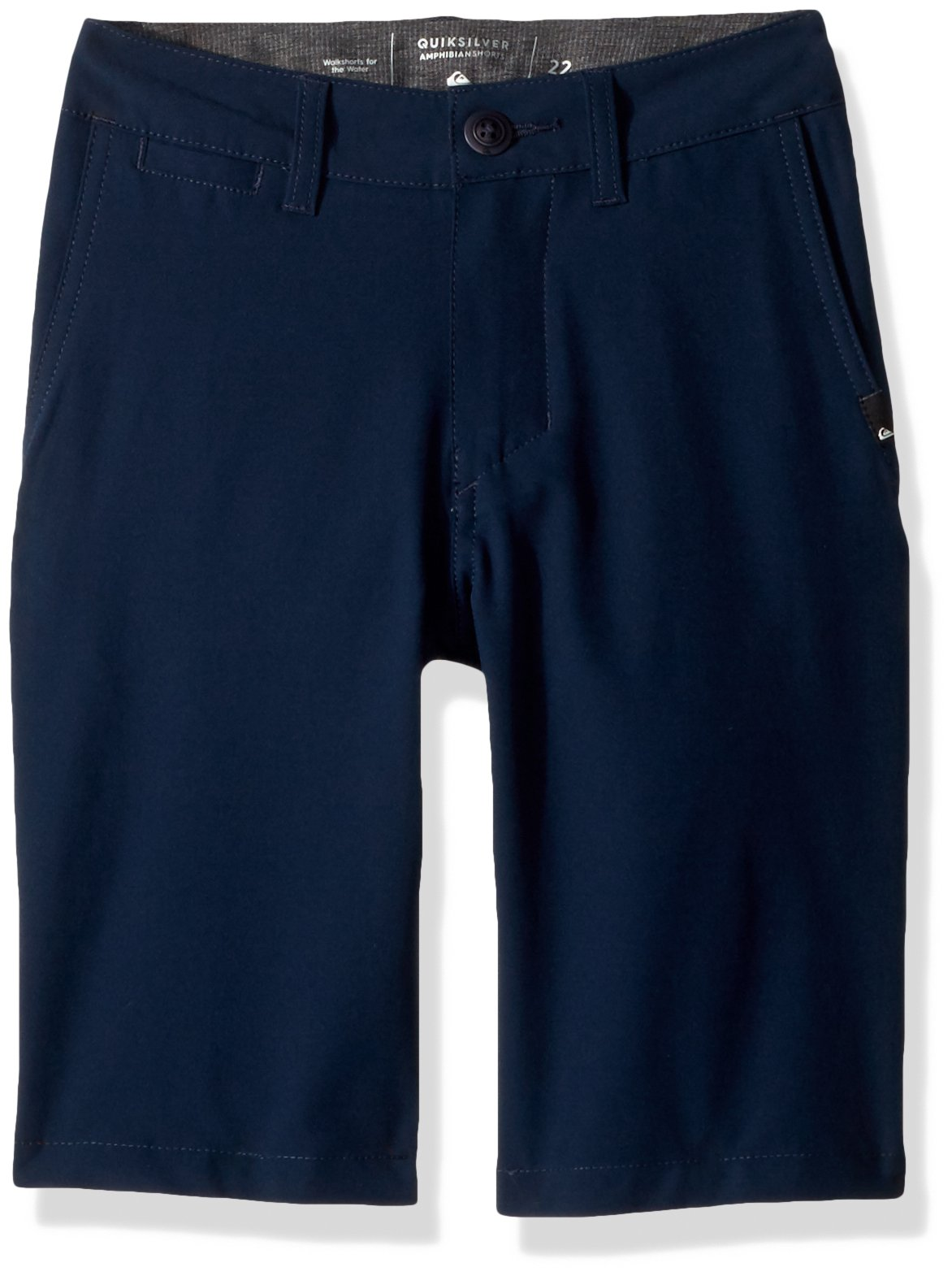 Quiksilver Big Boys' Union Amphibian Kids Swim Trunks, Navy Blazer, 28/14