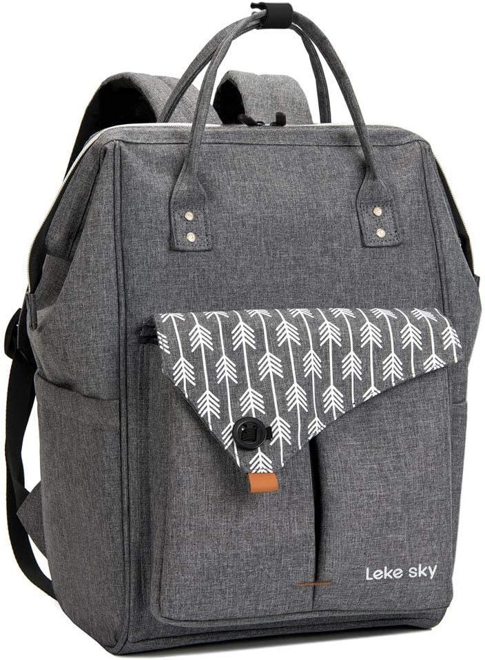 Lekesky Rucksack Damen für Schule Uni Reisen Freizeit Job mit Laptopfach & Anti Diebstahl Tasche - Rucksack Tasche Damen
