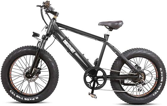Nakto Bicicletas eléctricas de 20 Pulgadas con batería de Litio extraíble de 48 V - Shimano 6 velocidades Bicicleta eléctrica, Color Negro: Amazon.es: Deportes y aire libre