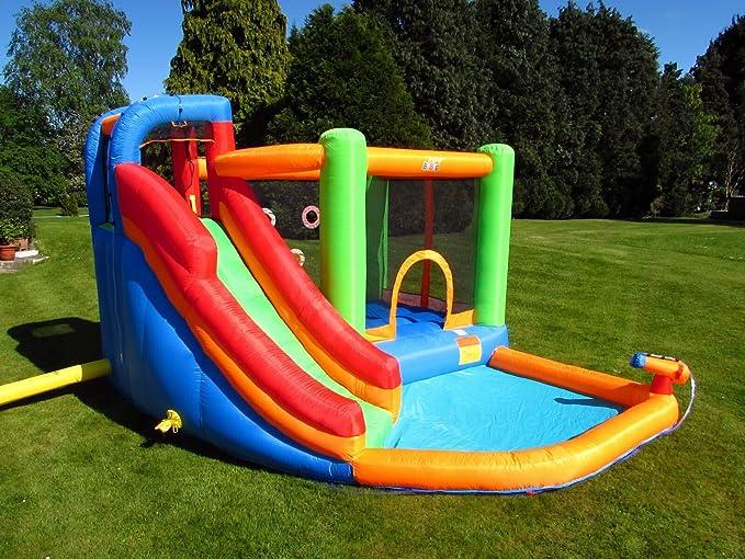 Bebop - Spin Combo - Gran castillo hinchable para saltos con tobogán de agua: Amazon.es: Juguetes y juegos