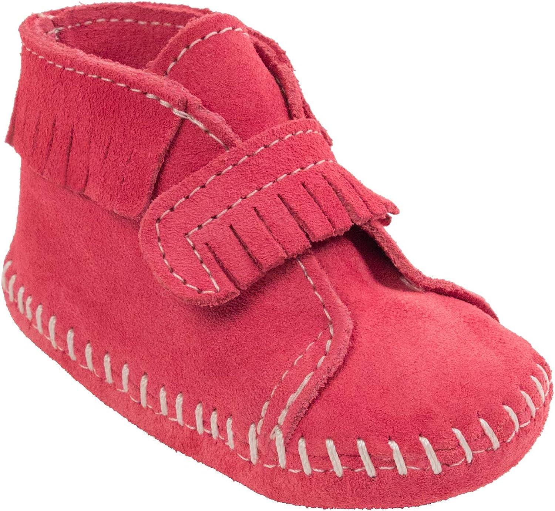 Minnetonka Front Strap Bootie (Infant