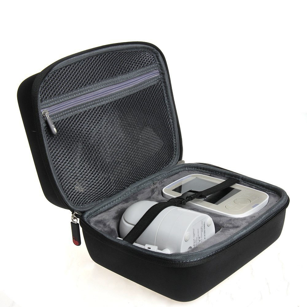 EVA Hard Protective Travel Case Carrying Pouch Cover Bag for Infant Optics DXR-8 Video Baby Monitor with Interchangeable Optical Lens By Hermitshell