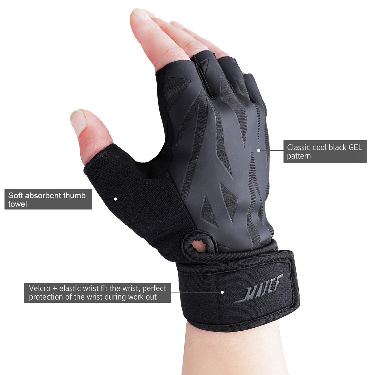 MAJCF Workout Gloves Gym Gloves for Training Full Palm Protection Weight Lifting Gloves for Exercise Powerlifting Men /& Women Cycling Fitness Rowing