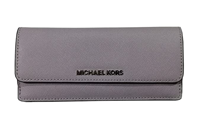 4c98e670735fa Michael Kors Jet Set Travel Flat Leather Wallet in Lilac Saffiano Leather   Amazon.co.uk  Clothing