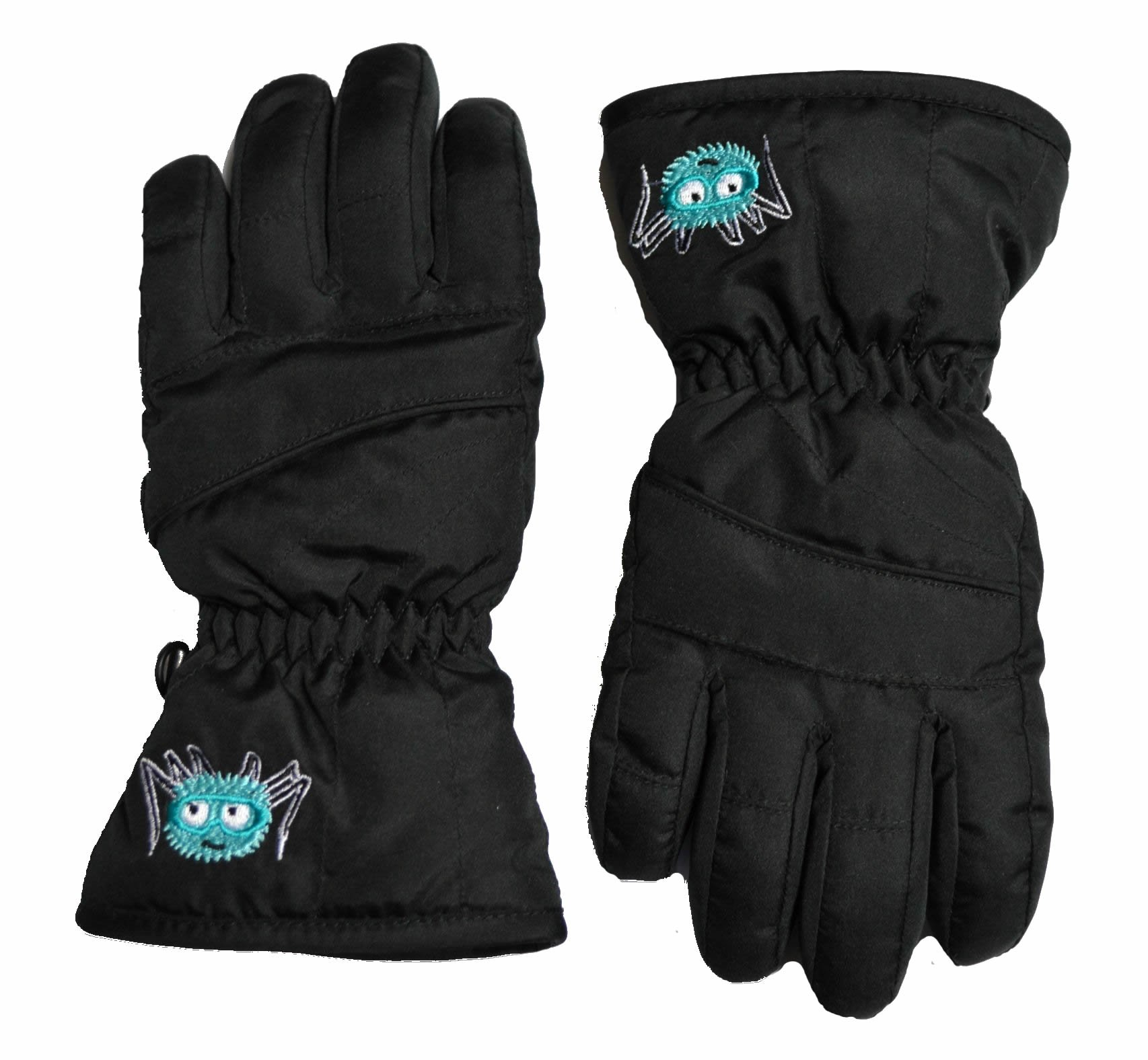 Kids Ski Gloves - Water Resistant With Warm Tricot Lining. Age 4-6 by Skiweb