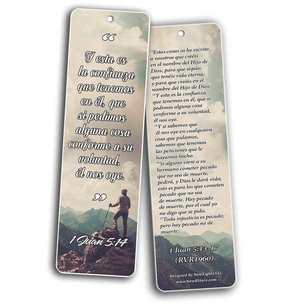 Spanish Bookmarks Cards (60-Pack)- Popular Inspirational Holy Scriptures - War Room Decor by NewEights (Image #7)