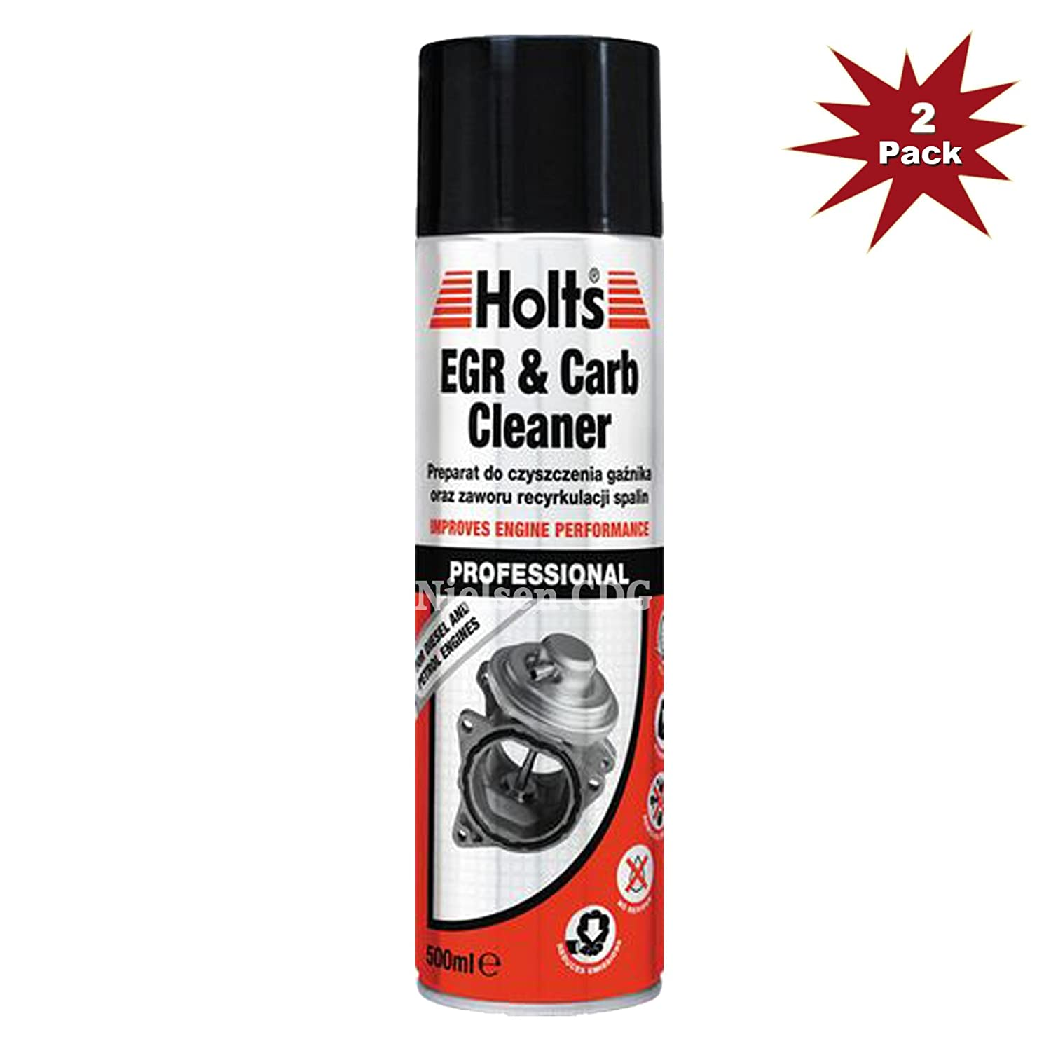 Holts EGR & Carb Cleaner 500ml 2pk Holt LLoyd
