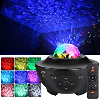 LUNSY Star Night Light Projector for Kids, 2 in 1 Starry Light with Remote, Built-in Music Speaker, LED Nebula Cloud…