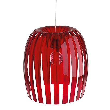 Koziol Josephine – Lámpara de techo colgante, rojo translúcido, extra-large, E27