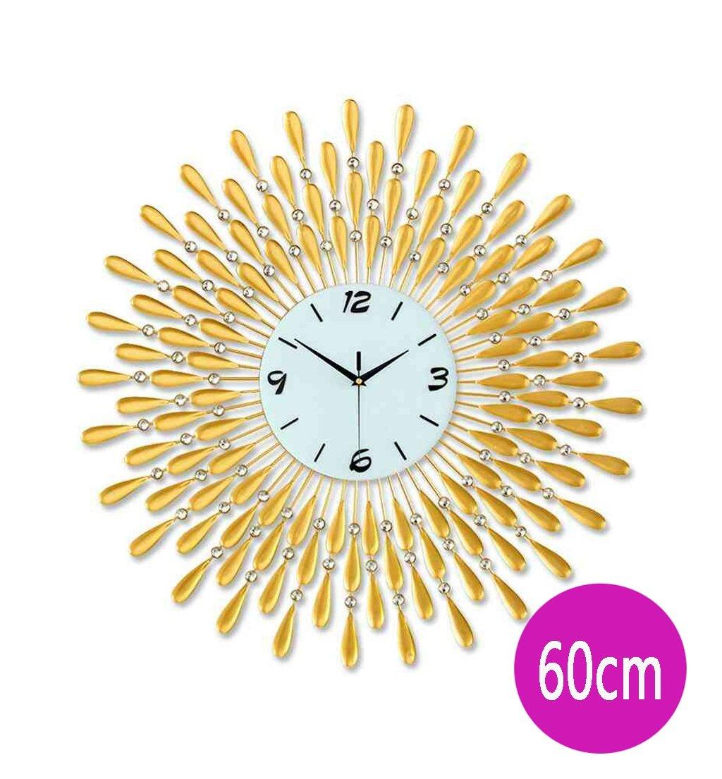 ZHENAI リビングルームの壁時計クリエイティブな性格の腕時計現代的なヨーロッパの静かなクォーツクロック掛けテーブル60cm / 70cm大きな壁時計 ( 色 : ゴールド , サイズ さいず : 60 cm 60 cm ) B07BN5YQ1K 60 cm 60 cm|ゴールド ゴールド 60 cm 60 cm