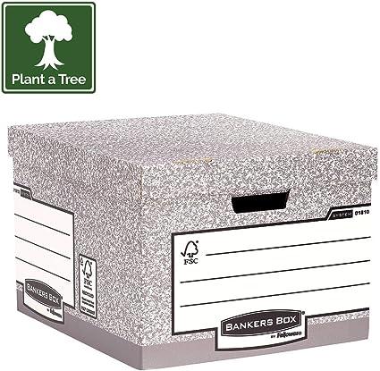 Fellowes Bankers Box System - Caja contenedora de archivos tamaño ...