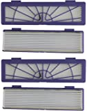4-pack High-Performance Filter replacement + 1 Side Brush for all Neato Botvac Series models, 70e 75 80 85