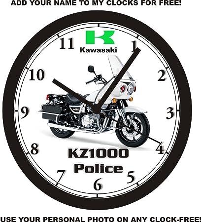 Amazon com: KAWASAKI KZ1000 POLICE MOTORCYCLE WALL CLOCK