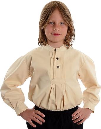 HEMAD/Billy Held Niños Camisa Traje típico de niños de Camisa de algodón Camisa ISAR naturbeige S – XXXL: Amazon.es: Ropa y accesorios
