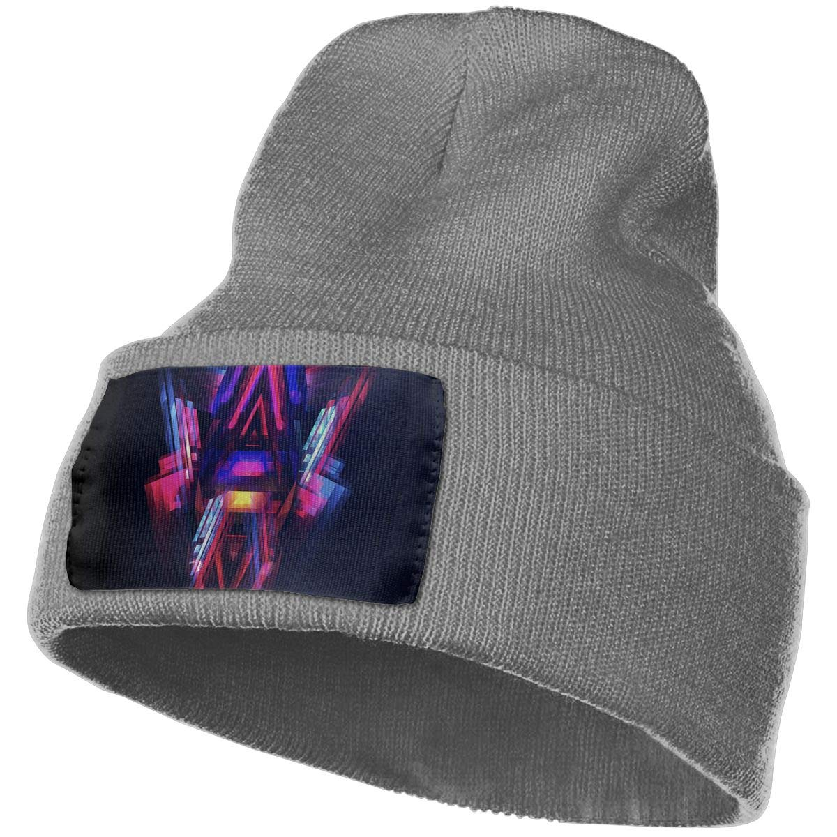 JimHappy Abstract Star Painting Hat for Men and Women Winter Warm Hats Knit Slouchy Thick Skull Cap Black