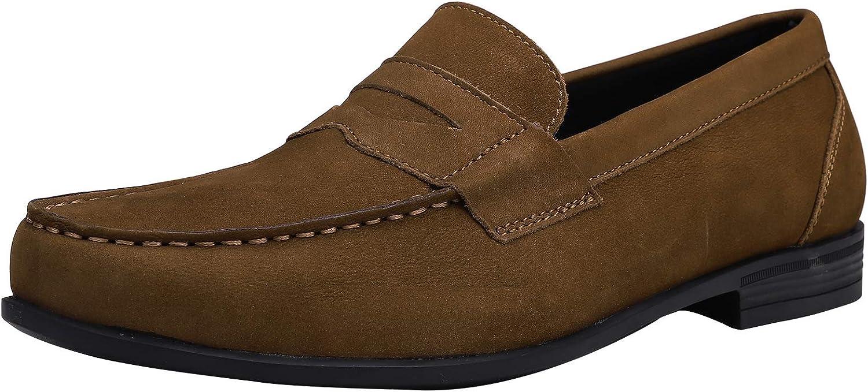 Yaer Mocassins en Cuir Hommes Fait /à la Main Flat Penny Loafers Business Chaussure Bateau