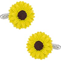 Cuff-Daddy Sunflower Cufflinks with Presentation Box