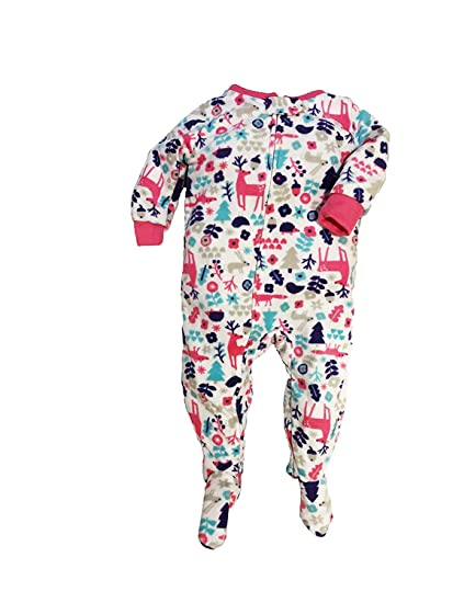 f430bdc02 Amazon.com  Carter s Girls  Toddler 1 Piece Fleece Sleepwear  Clothing