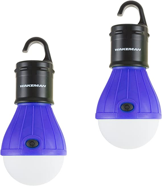 3Pack Mountaineering Buckle Portable Lantern Emergency Tent LED Light Bulb for Home, Fishing, Camping,Backpacking and Other Indoor Outdoor Activities,Water Resistant Gift, Blue JVSISM