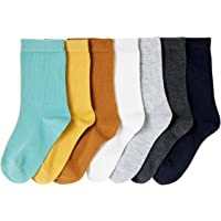 VERTBAUDET Lote de 7 pares de calcetines medianos niño MARRON MEDIO LISO 27/30