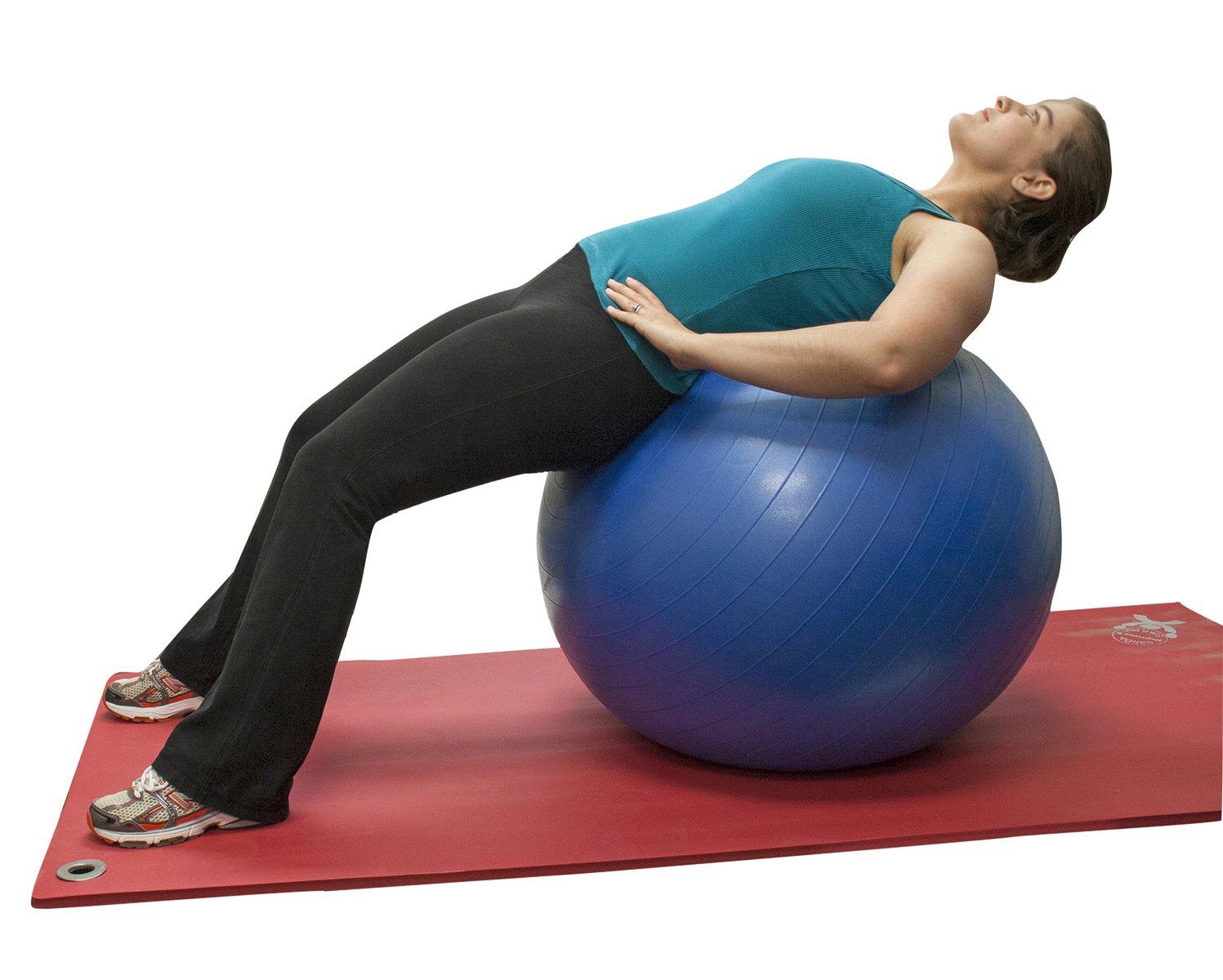 Amazon.com: Cando Deluxe ABS inflable pelota de ejercicio ...