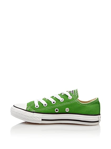 f539a1baa9283e Converse Low Chuck Taylor Classic OX All Star Shoes in Green Fabric ...