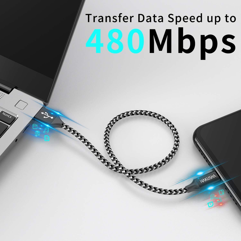 2M Micro USB Kabel, Nylon Micro USB Ladekabel Schnellladekabel ...