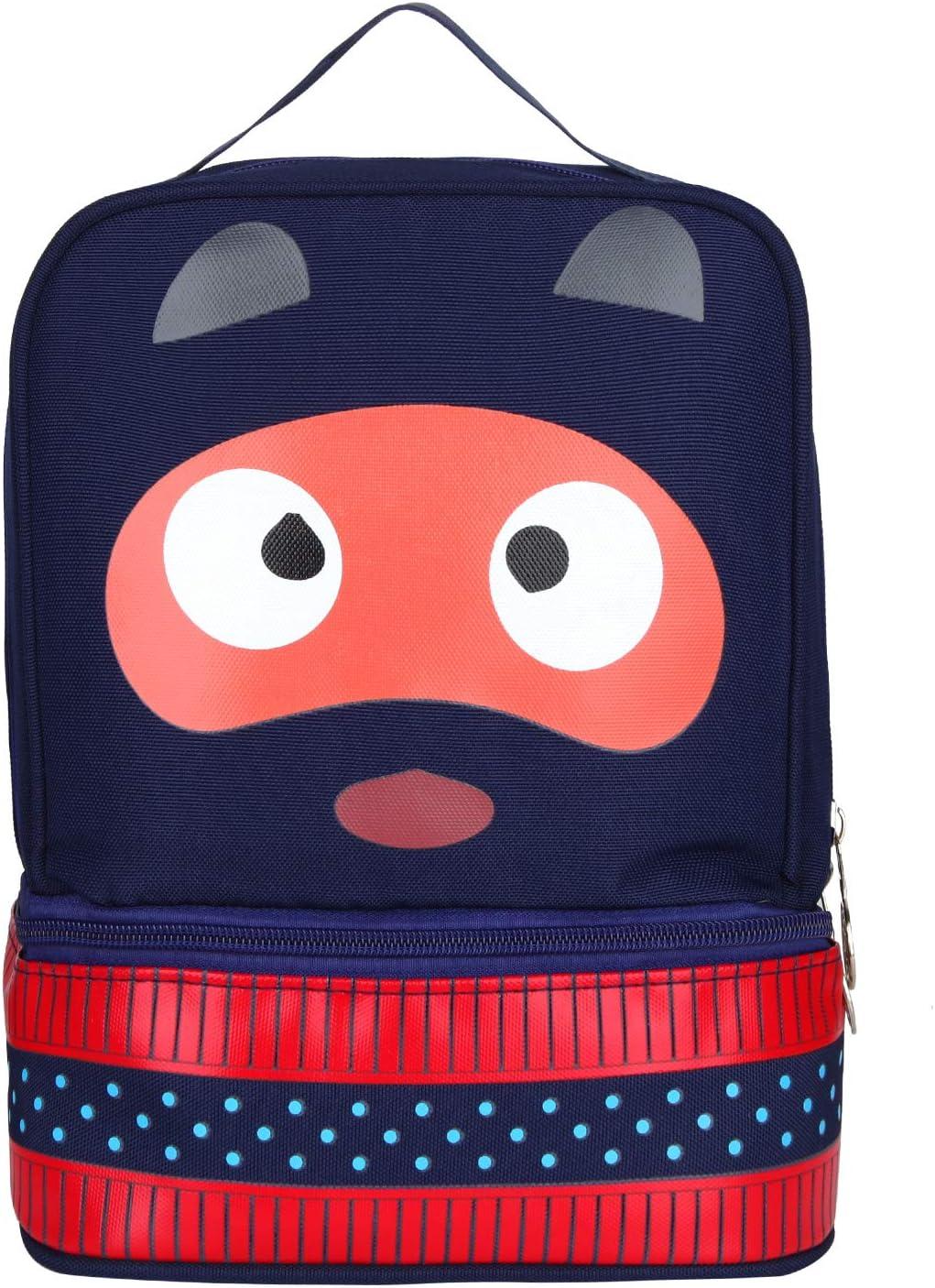 Mochila para niños Niñas, Animal de Dibujos Animados Mini Bolsa de Viaje Loncheras preescolares Bolsa de Transporte para bebé (Azul Oscuro)