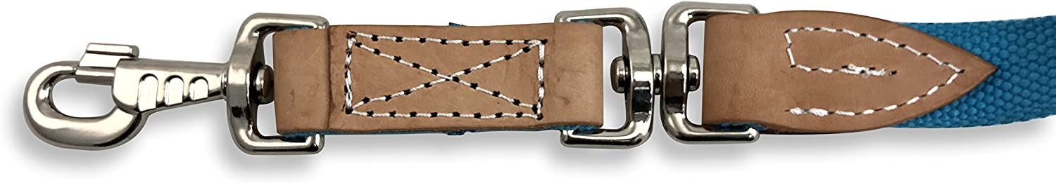 Southwestern Equine 35 Flat Cotton Web Lunge Line with Bolt Snap /& Rubber Stop by