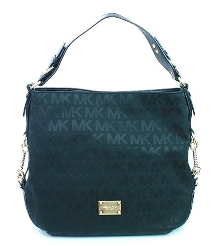 02cb6d84f3e782 ... new zealand michael kors big valley tote shoulder bag black canvas mk  monogram print handbag rrp