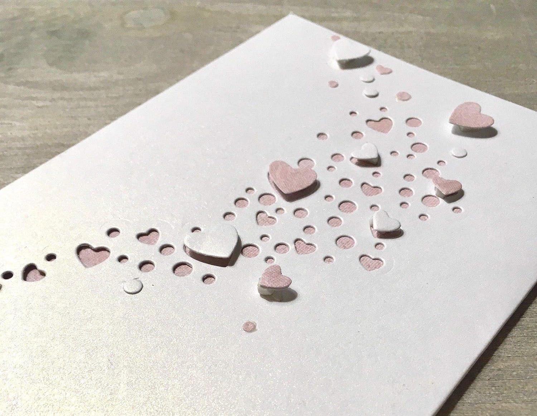 Simplelettering Stanzschablone Cutting Dies Herz Herzregen geeignet für Big Shot Stanzmaschinen Haj Yan
